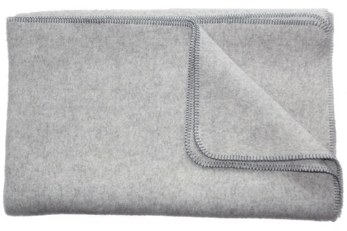 "Eco Blanket ""Gotland"" grey, in 2 sizes and 2 colours overlocked"