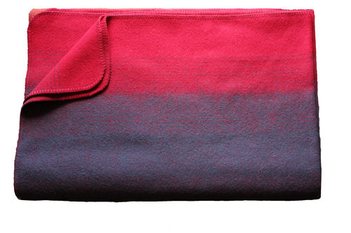 "Blanket ""Borkum"" red/anthracite"