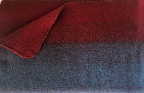 "Blanket ""Borkum"" red/blue"